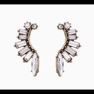 Crystal Ear Jacket Earrings!